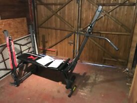 York 2 in 1 Barbell and Ab Bench with M'M Lat Tower