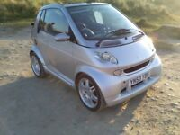 Fantastic genuine Brabus Smart Fortwo Convertible in shiny silver, leather seats, paddle shift