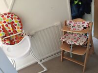 LIKE BRAND NEW BABY GATE, HIGH CHAIR AND CHANGE AS THEY GROW CHAIR