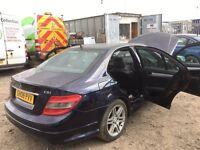 Mercedes c 220 cdi diesel w204 2008 year parts amg alloy wheels bumper bonnet light parking sensors
