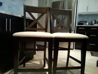counter chairs $38 each ,two for $75