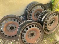 VW Golf Mk5, Seat, Audi, Caddy steel wheels 6x15 Banded? 5x112
