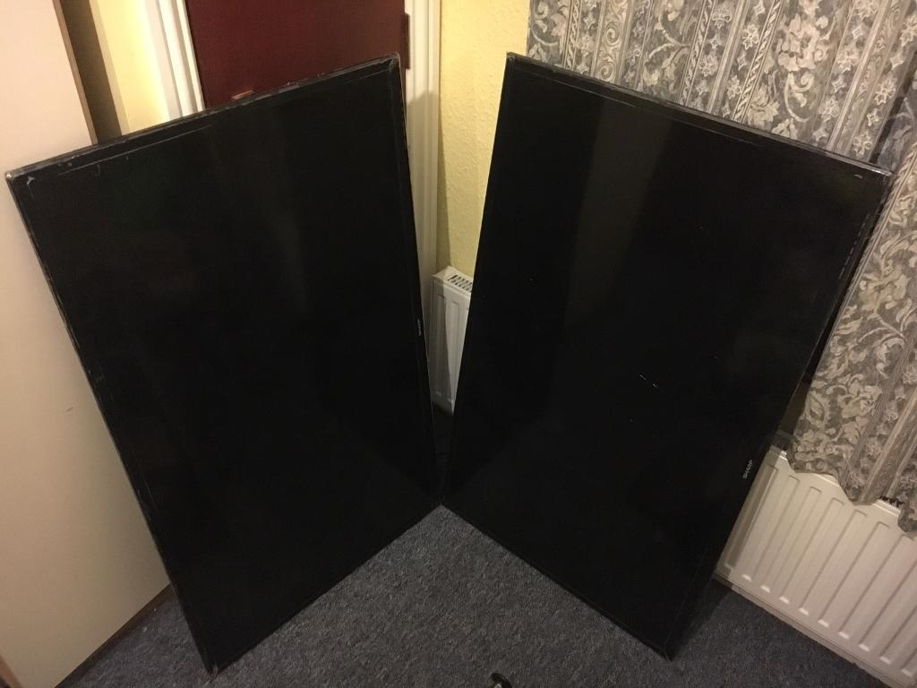 Sharp smart tv 48inch x2 spares or repairs