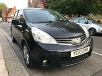 NISSAN NOTE TEKNA 2010 jet black automatic low mileage