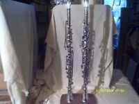 "METAL CLARINETS by "" HAWKES "" the 20th CENTURY , BOTH "" ALBERT "" SYSTEM + £150 EACH ?"