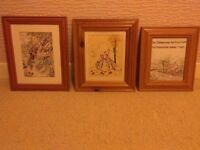 VINTAGE, EMBROIDERED SAMPLERS , FROM THE 1930, IN NEW WIDE PINE FRAMES,