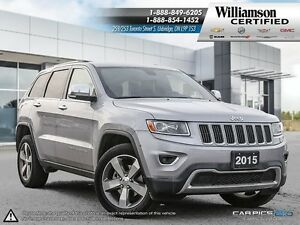 2015 Jeep Grand Cherokee LIMITED**NAV**LTHR**BCK UP CAM**SUNROOF