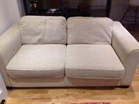 Eleanor 3 Seater Fabric Sofa with cushions