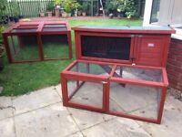 Large rabbit hutch and separate run - very good condition