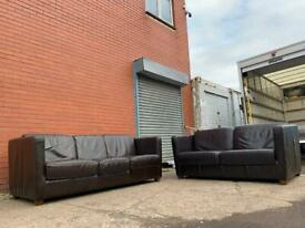 Real leather Harvey sofas delivery 🚚 sofa suite couch