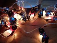 JOHN LEWIS PENGUINS 20 DECORATIVE LIGHTS SET 5.3m PERFECT