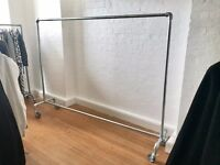 Custom Made Industrial Metal Clothing Rail - Extra Long, Very Cool