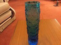 "Pretty Blue Vase - Approximately 8"" Tall, 2"" Diameter"
