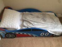 Racing car boy toddler bed