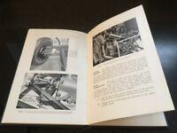 Alvis Speed 25 instruction book