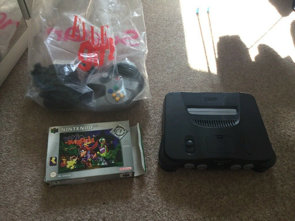 Nintendo 64 with expansion pak and game