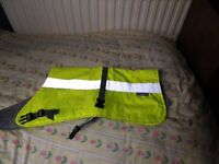 Hi Vis Dog coat for medium size dog