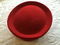 Stunning Red Felt Hat