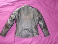 Moter bike jacket very little use with armour