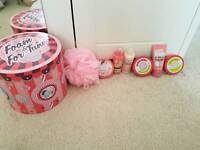 Soap and glory set with musical tin