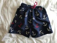 Joules swim or beach shorts for boys age 2-3