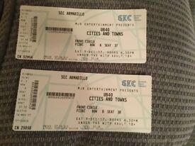 2 UB40 concert tickets for Saturday 9th December 2017 Glasgow