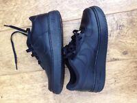 All Black Nike Air Force 1 (silver tag)