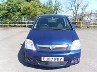 2007 BLUE VAUXHALL MERIVA 1.4 ENERGY /AC 5 DOOR MPV YEAR MOT CHEAP TO RUN NICE CAR