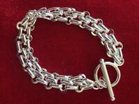 Solid Silver 3type chain blended into one