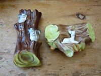 TWO HORNSEA POTTERY ANIMAL FIGURINES IN PRISTINE CONDITION
