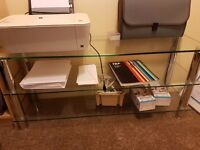 Glass table / tv unit