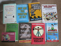 Assorted books about teaching (some used, some brand new)