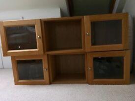 Ikea Billy Wall Units (Oak Veneer) x 2