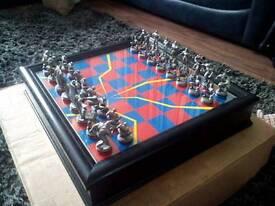 Marvel pewter chess set