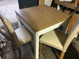Heart of House Castleton Dining Table & 4 Chairs-Oak Veneer
