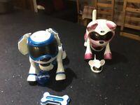 Teksta robotic puppy and kitty