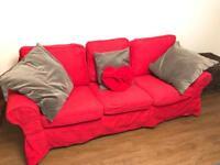 IKEA EKTORP Three-seat sofa. Nordvalla red