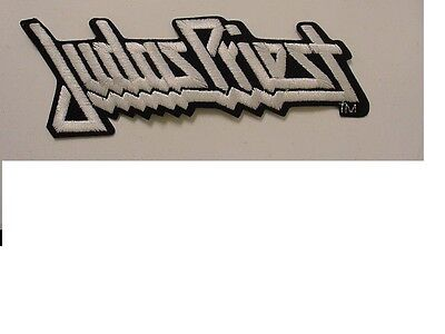 """Lot of 2 large JUDAS PRIEST  EMBROIDERED 70'S METAL-IRON ON PATCH-licensed 7.5"""""""