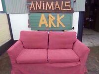 Red 2 Seat Sofa Washable cover Delivery available £20