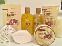 Pampering IDC Institute Shea Butter Bath set and Baylis & Harding foot soak crystals