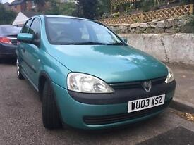 Low Mileage Lady Owner Vauxhall Corsa with Full Service History and MOT until Sept 17.