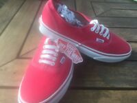 Men's vans shoes brand new size 8 red.