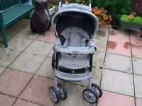 PUSHCHAIR Graco Aerosport Plus Good condition. Seat reclines. Hood. Folds for storage