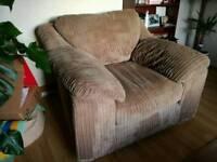 Tan / brown corded chair