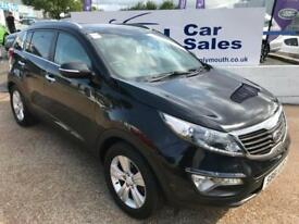 KIA SPORTAGE 1.6 2 5d 133 BHP A GREAT EXAMPLE INSIDE AND OUT (black) 2012