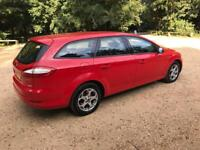 2009 FORD MONDEO 1.8 TDCI ESTATE IN RED. LONG MOT, VERY SPACIOUS, DRIVES WELL.