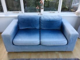 2 Seater Denim Sofa