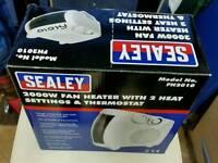 Electric fan heater freestanding Sealey new in box