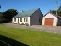 For Sale 3 Bedroom Bungalow & 2 Acres of Croft Land at Sanmarie 113 Ladies Loch Brora