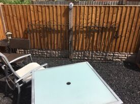 8ft Wide Wrought Iron Driveway Gates / Double Gates / Metal Steel- CAN DELIVER